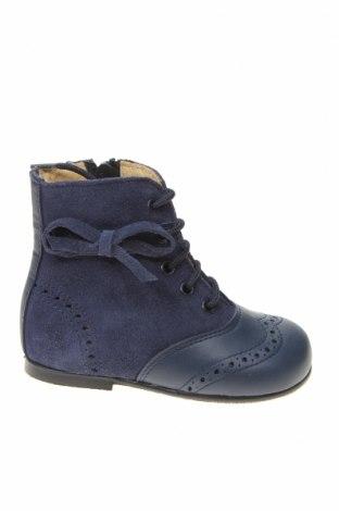 Детски обувки Lola Palacios, Размер 20, Цвят Син, Естествен велур, естествена кожа, Цена 59,25лв.