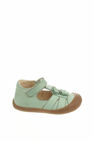 Детски обувки Naturino, Размер 22, Цвят Зелен, Естествена кожа, Цена 49,50лв.