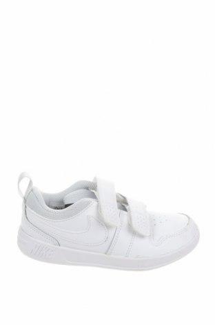Детски обувки Nike, Размер 28, Цвят Бял, Естествена кожа, еко кожа, Цена 51,17лв.