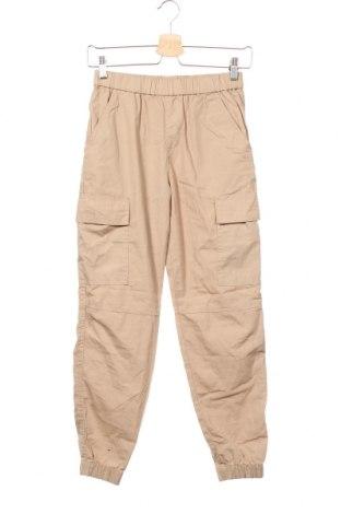 Детски панталон H&M, Размер 11-12y/ 152-158 см, Цвят Бежов, Памук, Цена 8,19лв.