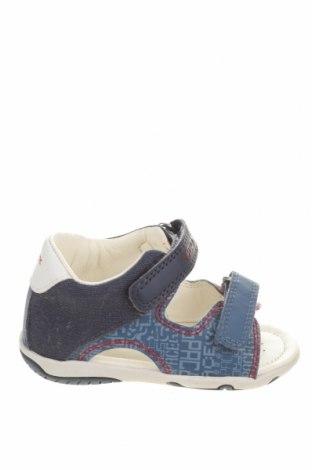 Детски сандали Geox, Размер 22, Цвят Син, Еко кожа, текстил, Цена 19,75лв.