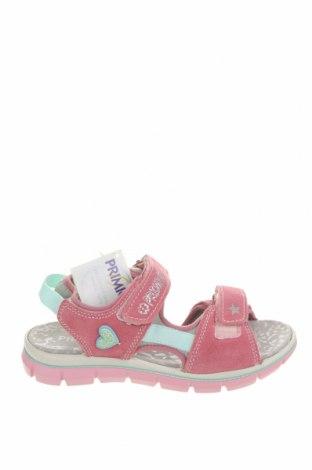 Детски сандали Primigi, Размер 35, Цвят Розов, Естествен велур, текстил, Цена 33,63лв.