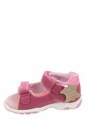 Детски сандали Richter, Размер 22, Цвят Розов, Текстил, Цена 31,50лв.