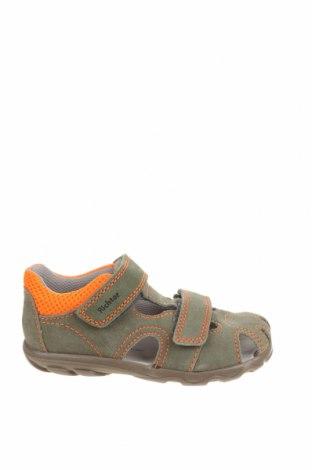 Детски сандали Richter, Размер 26, Цвят Зелен, Естествен велур, Цена 33,12лв.