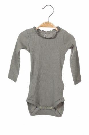 Детско боди Name It, Размер 3-6m/ 62-68 см, Цвят Зелен, 57% памук, 38% модал, 5% еластан, Цена 12,25лв.