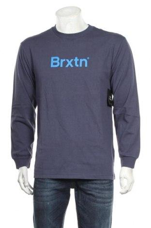 Bluză de bărbați Brixton, Mărime M, Culoare Albastru, Bumbac, Preț 56,41 Lei