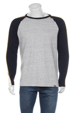 Мъжка блуза Superdry, Размер L, Цвят Сив, 50% памук, 50% полиестер, Цена 31,60лв.