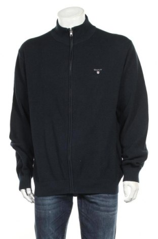 Pánský kardigán Gant, Velikost 3XL, Barva Modrá, Bavlna, Cena  1511,00Kč