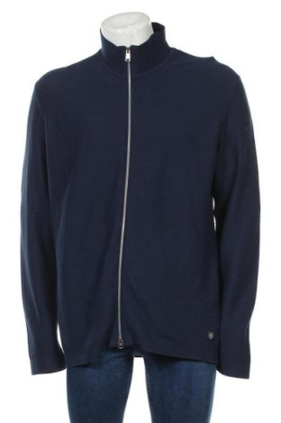 Jachetă tricotată de bărbați Marc O'Polo, Mărime XXL, Culoare Albastru, Bumbac, Preț 264,97 Lei