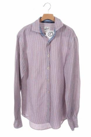 Мъжка риза Boggi, Размер M, Цвят Многоцветен, 51% лен, 49% памук, Цена 25,20лв.