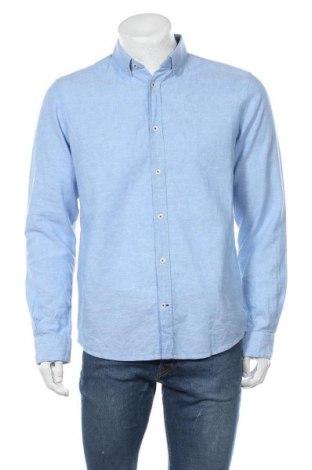 Мъжка риза Tom Tailor, Размер M, Цвят Син, 55% лен, 45% памук, Цена 12,80лв.