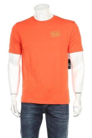 Мъжка тениска Brixton, Размер M, Цвят Оранжев, 60% памук, 40% полиестер, Цена 16,24лв.