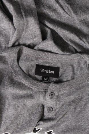 Мъжка тениска Brixton, Размер M, Цвят Сив, Памук, Цена 11,70лв.
