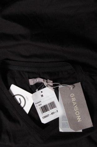 Мъжка тениска Grayson, Размер M, Цвят Черен, Памук, Цена 12,60лв.