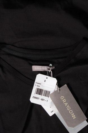 Мъжка тениска Grayson, Размер S, Цвят Черен, Памук, Цена 12,60лв.