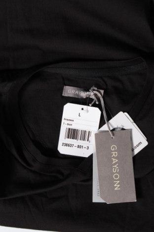 Мъжка тениска Grayson, Размер L, Цвят Черен, Памук, Цена 12,60лв.