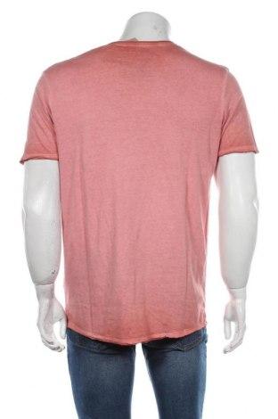 Мъжка тениска Jack & Jones, Размер XL, Цвят Розов, Памук, Цена 22,05лв.