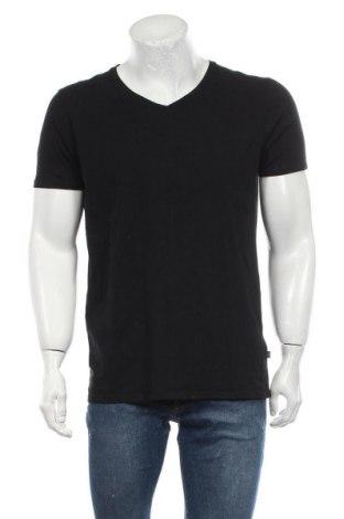 Мъжка тениска Scotch & Soda, Размер L, Цвят Черен, 95% памук, 5% еластан, Цена 15,80лв.