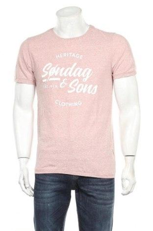 Мъжка тениска Sondag & Sons, Размер M, Цвят Розов, 50% памук, 50% полиестер, Цена 11,17лв.