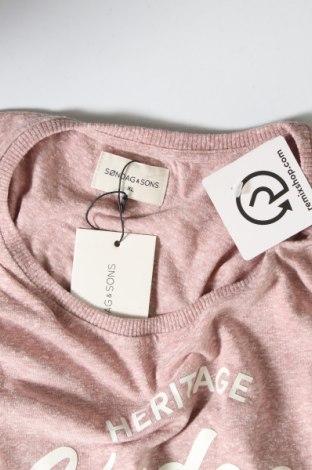 Мъжка тениска Sondag & Sons, Размер XL, Цвят Розов, 50% памук, 50% полиестер, Цена 11,17лв.