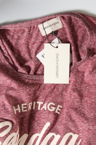 Мъжка тениска Sondag & Sons, Размер L, Цвят Червен, 50% памук, 50% полиестер, Цена 13,05лв.