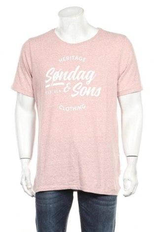 Мъжка тениска Sondag & Sons, Размер XXL, Цвят Розов, 50% памук, 50% полиестер, Цена 13,05лв.
