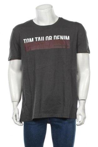 Мъжка тениска Tom Tailor, Размер XXL, Цвят Сив, Памук, Цена 10,50лв.