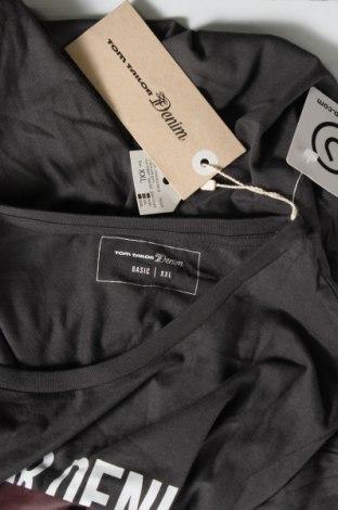 Мъжка тениска Tom Tailor, Размер XXL, Цвят Сив, Памук, Цена 31,50лв.