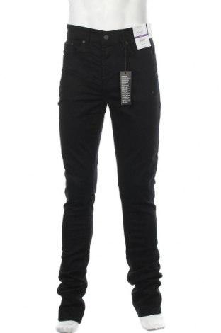 Мъжки дънки Burton of London, Размер L, Цвят Черен, 98% памук, 2% еластан, Цена 31,27лв.
