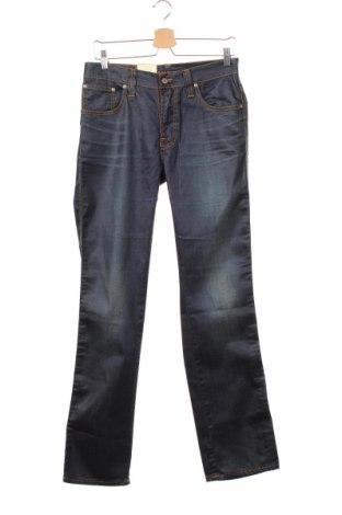 Мъжки дънки Nudie Jeans Co, Размер M, Цвят Син, 91% памук, 8% полиестер, 1% еластан, Цена 26,46лв.