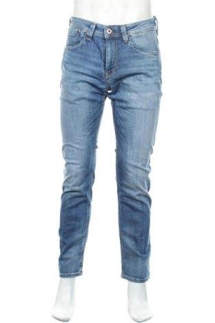 Мъжки дънки Pepe Jeans, Размер M, Цвят Син, 98% памук, 2% еластан, Цена 60,42лв.