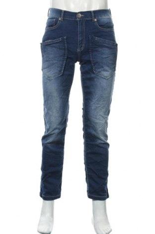 Мъжки дънки Sam's, Размер S, Цвят Син, 88% памук, 8% полиестер, 4% еластан, Цена 9,24лв.