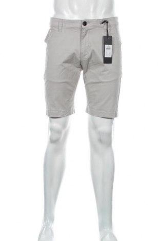 Мъжки къс панталон Anerkjendt, Размер M, Цвят Сив, 98% памук, 2% еластан, Цена 33,12лв.