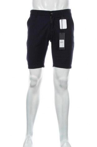 Мъжки къс панталон Anerkjendt, Размер M, Цвят Син, 68% полиестер, 28% вискоза, 4% еластан, Цена 37,95лв.