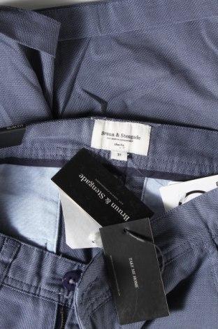 Мъжки къс панталон Bruun & Stengade, Размер M, Цвят Син, 97% памук, 3% еластан, Цена 33,12лв.