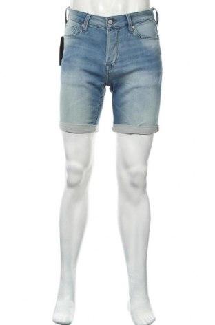 Pánské kraťasy Jack & Jones, Velikost S, Barva Modrá, 62% bavlna, 37% polyester, 1% elastan, Cena  326,00Kč