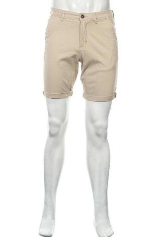Мъжки къс панталон Jack & Jones, Размер S, Цвят Бежов, 98% памук, 2% еластан, Цена 26,55лв.