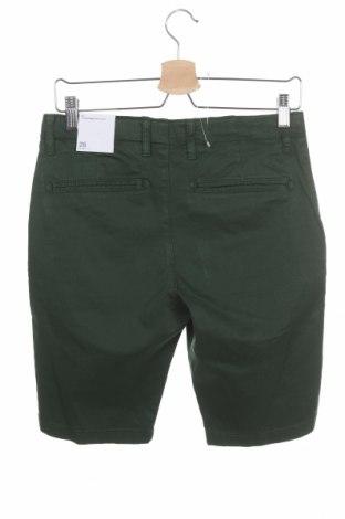 Pantaloni scurți de bărbați Knowledge Cotton Apparel, Mărime S, Culoare Verde, 97% bumbac, 3% elastan, Preț 75,19 Lei