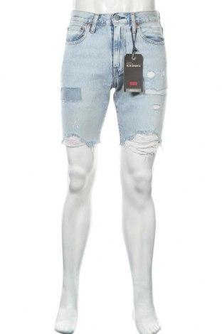 Мъжки къс панталон Levi's, Размер M, Цвят Син, Памук, Цена 19,58лв.