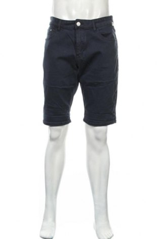 Мъжки къс панталон Tom Tailor, Размер L, Цвят Син, 72% памук, 27% полиестер, 1% еластан, Цена 32,45лв.
