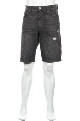 Мъжки къс панталон Tom Tailor, Размер L, Цвят Сив, 94% памук, 5% полиестер, 1% еластан, Цена 19,47лв.