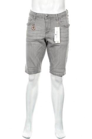 Мъжки къс панталон Tom Tailor, Размер M, Цвят Сив, 98% памук, 2% еластан, Цена 22,05лв.