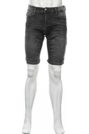 Мъжки къс панталон Tom Tailor, Размер S, Цвят Сив, 85% памук, 124% полиестер, 1% еластан, Цена 26,55лв.