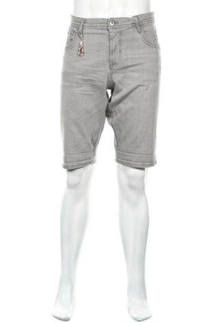 Мъжки къс панталон Tom Tailor, Размер L, Цвят Сив, 98% памук, 2% еластан, Цена 20,06лв.