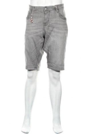 Мъжки къс панталон Tom Tailor, Размер XL, Цвят Сив, 98% памук, 2% еластан, Цена 22,05лв.