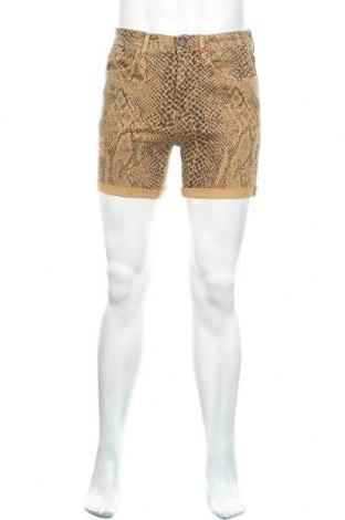 Pánské kraťasy Zara Man, Velikost S, Barva Hnědá, 98% bavlna, 2% elastan, Cena  160,00Kč