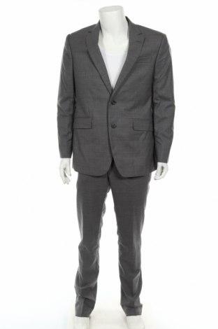 Мъжки костюм Hackett, Размер L, Цвят Сив, Вълна, Цена 444,95лв.