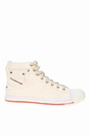 Ανδρικά παπούτσια Diesel, Μέγεθος 42, Χρώμα Λευκό, Κλωστοϋφαντουργικά προϊόντα, Τιμή 55,44€