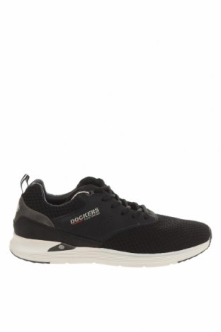 Ανδρικά παπούτσια Dockers by Gerli, Μέγεθος 45, Χρώμα Μαύρο, Κλωστοϋφαντουργικά προϊόντα, δερματίνη, Τιμή 24,41€