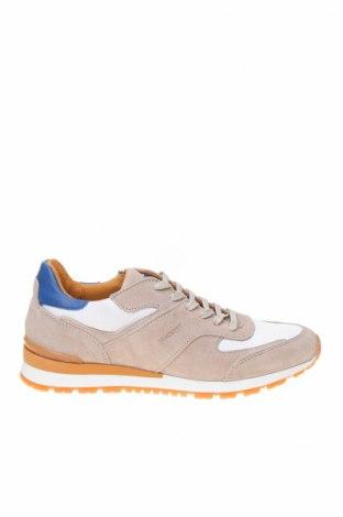 Ανδρικά παπούτσια Hackett, Μέγεθος 41, Χρώμα  Μπέζ, Φυσικό σουέτ, κλωστοϋφαντουργικά προϊόντα, Τιμή 52,14€